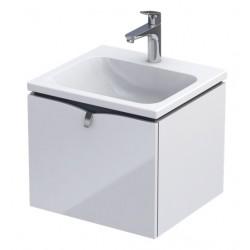Oristo Siena Szafka z umywalką Cera 50 cm Biały Połysk (OR45-SD1S-50-1+UME-TW-50-91)