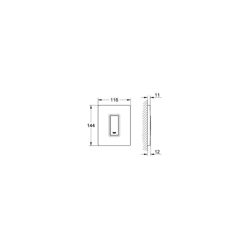 grohe sakte cosmopolitan przycisk do pisuaru 38784000. Black Bedroom Furniture Sets. Home Design Ideas