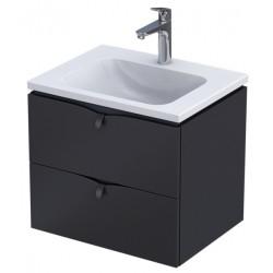Oristo Siena Biały Połysk Szafka z umywalką 50 cm (OR45-SD1S-50-1+UME-TW-50-91)