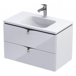 Oristo Siena 80 cm Biały Połysk Szafka pod umywalkę (OR45-SD2S-80-1)