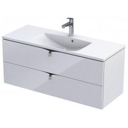 Oristo Siena 120 cm Biały Połysk Szafka pod umywalkę (OR45-SD2S-120-1)