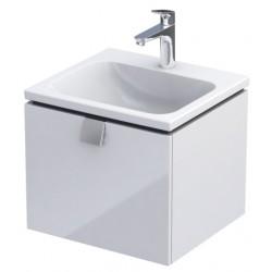 Oristo Bold 50 cm Biały Połysk Szafka pod umywalkę (OR46-SD1S-50-1)
