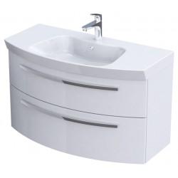Oristo Flow Biały Połysk Szafka pod umywalkę 100 cm (OR38-SD-100)