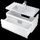 Oristo Horyzont 120 cm Biały Półmat Szafka pod umywalkę (OR37-SD1S-120-2)