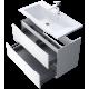Oristo Silver 60 cm Biały Połysk Szafka z umywalką Alpina (OR33-SD2S-60-1+UME-AL-60-92)