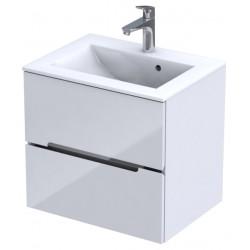 Oristo Silver Biały Połysk Szafka pod umywalkę 60 cm (OR33-SD-60-1)