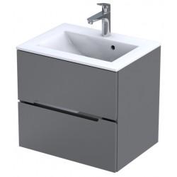 Oristo Silver Szary Mat Szafka pod umywalkę 60 cm (OR33-SD2S-60-4)