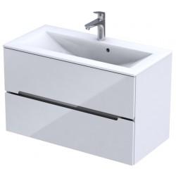 Oristo Silver Biały Połysk Szafka pod umywalkę 90 cm (OR33-SD-90-1)