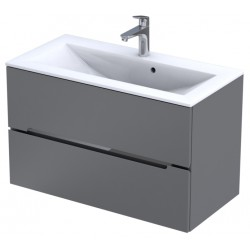 Oristo Silver Szary Mat Szafka pod umywalkę 90 cm (OR33-SD2S-90-4)