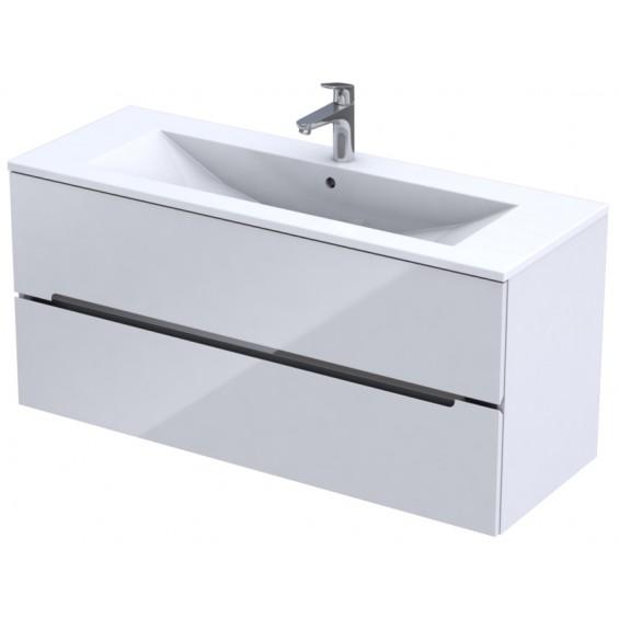 Oristo Silver Biały Połysk Szafka pod umywalkę 120 cm (OR33-SD2S-120-1-C)
