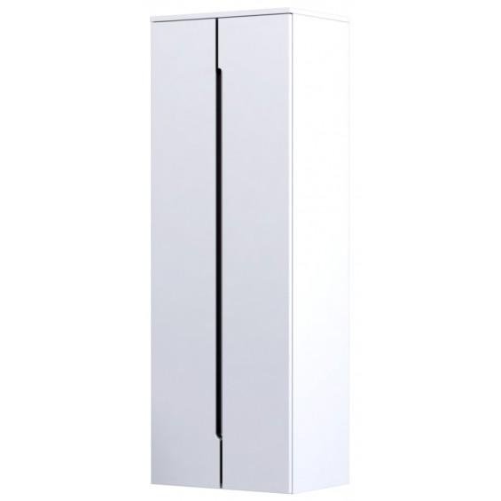 Oristo Silver Biały Połysk Szafka Wysoka Boczna 50 cm (OR33-SB2D-50-1)