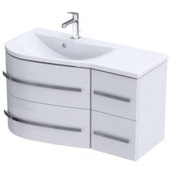 Oristo Opal Biały Połysk Szafka pod umywalkę 90 cm Lewa (OR30-SD-90-L-2)