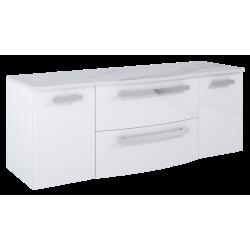 Elita Rolly White Szafka 80 cm z dwiema komodami 40 i blatem 161 (167711+167712+167712+167800)