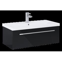 Elita Kwadro Plus Black Szafka Z Umywalką Milos 80 cm