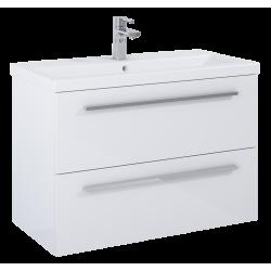 Elita Kwadro Plus White Szafka 2S Z Umywalką Milos 80 (166713+155780)