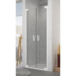 SanSwiss Cadura White Drzwi Prysznicowe CA2C 70 cm Szkło Przezroczyste CA2C0700907