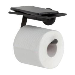 Tiger Noon Uchwyt na papier toaletowy z półką Czarna (1321730746)