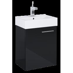 Elita Tiny Black Set Szafka Z Umywalką 45 cm 1D