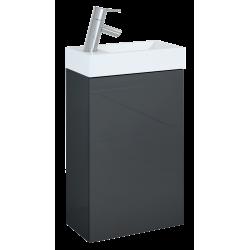 Elita Young Basic Anthracite Set Szafka z Umywalką 40 cm 1D (166042)