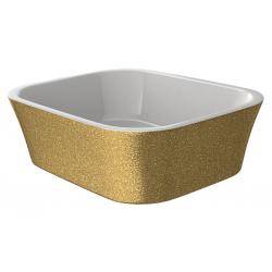 Besco ASSOS GLAM Umywalka nablatowa Złota 40x50