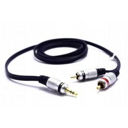 Kabel AUX / Jack 3.5 - 2 RCA 5M