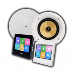 Dexon Odtwarzacz Ścienny Bluetooth, Radio, USB, SD z 2 Głośnikami CS-530K