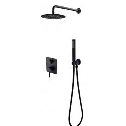 Besco Decco/Illusion Zestaw Prysznicowy Podtynkowy I Czarny Mat