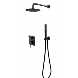 Besco Decco/Illusion Zestaw Prysznicowy Podtynkowy II Czarny Mat