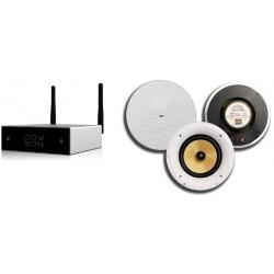Doyson Wzmacniacz Wi-Fi / Bluetooth Multiroom z Głośnikami Dexon i Pilotem (WS 280 + CS-640K)