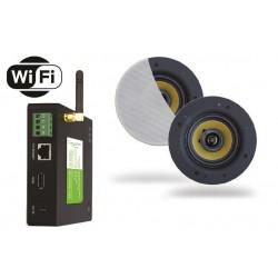 Timple Audio Zestaw Wi-Fi Multiroom z Głośnikami Wodoodpornymi Rumba (TWA40+SPKRUMBA-W)