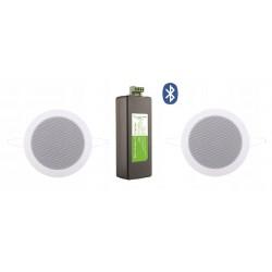 Timple Audio Odtwarzacz Bluetooth z Czarnymi Głośnikami Wodoodpornymi (TMN20EASY + SPKTwist135-Z)