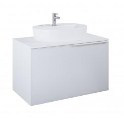 Elita Glam White Szafka Z Blatem 90 cm i Umywalką Babette 62 cm (168381+168390+145079)