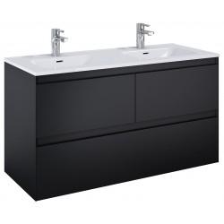 Elita Split Black Matt Szafka Z Umywalką Skappa Duo 120 cm (168183+145875)