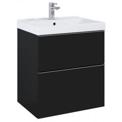 Elita Look Black Matt Szafka 2S Z Umywalką Piazza 60 cm (168105+145710)