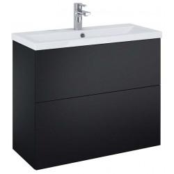 Elita Kido Black Matt Set Szafka Z Umywalką 80 cm (168100)