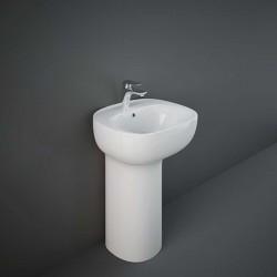 Rak Ceramics Illusion Umywalka Wolnostojąca Biała / Ukryty Montaż 54 cm (ILLFS5501AWHA)