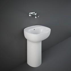 Rak Ceramics Illusion Umywalka Wolnostojąca Biała / Ukryty Montaż 54 cm (ILLFS5500AWHA)