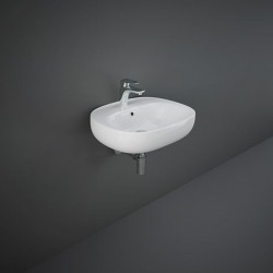 Rak Ceramics Illusion Umywalka Wisząca Biała 55 cm (ILLWB5501AWHA)