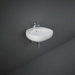 Rak Ceramics Illusion Umywalka Wisząca Biała 50 cm (ILLWB5001AWHA)