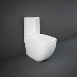 Rak Ceramics Illusion Zestaw Kompakt Miska WC + Zbiornik + Deska 64 cm