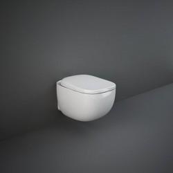 Rak Ceramics Illusion Miska WC Podwieszana + Deska WC 52 cm (ILLWC1446AWHA+ILLSC3901WH)