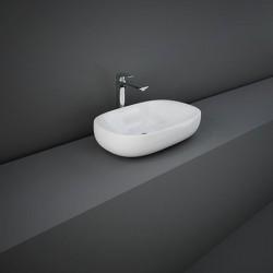 Rak Ceramics Illusion Umywalka Nablatowa Owalna 60x38cm Biały Połysk (ILLCT6000AWHA)