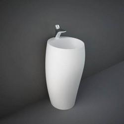 Rak Ceramics Cloud Umywalka Wolnostojąca Okrągła 50x47cm Z Otworem Biały Mat