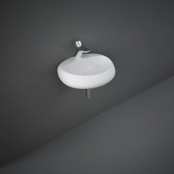 Rak Ceramics Cloud Umywalka Podwieszana i Nablatowa Owalna 55x42 cm Z Otworem Biały Mat (CLOWB5501500A)