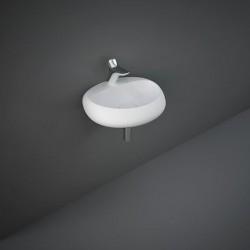 Rak Ceramics Cloud Umywalka Podwieszana i Nablatowa Owalna 55x42cm Z Otworem Biały Mat (CLOWB5501500A)