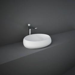 Rak Ceramics Cloud Umywalka Nablatowa Owalna 58x40cm Biały Mat (CLOCT6000500A)