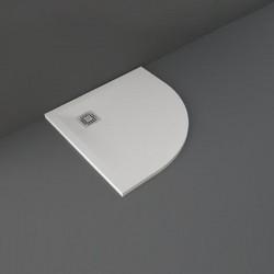Rak Ceramics Feeling Brodzik Półokrągły 80x80 cm Biały (RFQU008080S500)