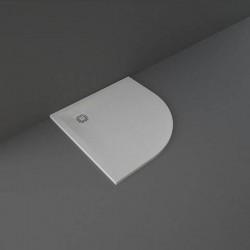 Rak Ceramics Feeling Brodzik Półokrągły 90x90 cm Szary (RFQU009090S503)