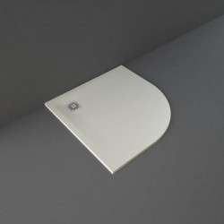 Rak Ceramics Feeling Brodzik Półokrągły 100x100 cm Beż (RFQU100100S505)