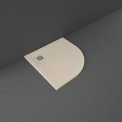 Rak Ceramics Feeling Brodzik Półokrągły 100x100 cm Cappuccino (RFQU100100S514)